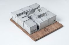 modelarchitecture:  Miniature Modern Concrete Buildings By Material Immaterial studio