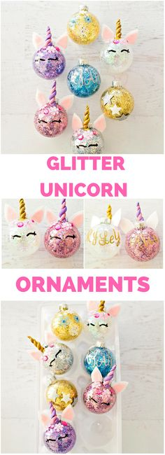 DIY Glitter Unicorn