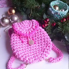 Купить Вязаный Рюкзак для девочки - розовый, рюкзачок, рюкзак, рюкзак для девушки, рюкзак для девочки