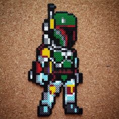 Boba Fett - Star Wars perler beads by Halemark Handcrafts
