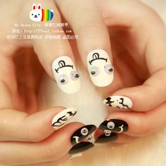 Aliexpress.com : Buy New Arrivals Blackwhite vampire bat fake nail,naughty demon oval false nails,acrylic full cover nail tips,free shipping from Reliable false nails tips suppliers on Jessie's shop. $6.89