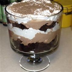 Excellent chocolate trifle