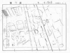 """""""これも「3000里」の宮崎駿氏のレイアウトです。氏の得意技の目もくらむ大俯瞰が見事ですね。しかし、よく見ると私などの凡人の行う一転集中パースではありません、パース感をふまえた上で見た目の自然感を重視しています。すごいと思います。"""""""