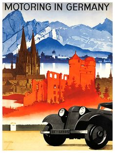 German Travel Art Germany Poster Print Vintage by Blivingstons