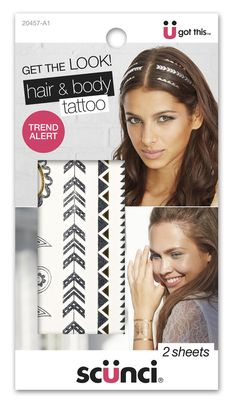 Scünci Hair and Body Tattoos ($5, available at your local Target)