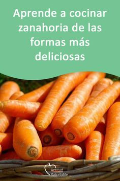 Simple and healthy cooking recipes to learn how to prepare carrots in various ways, taking advantage of their healthy nutrients faciles gourmet de cocina de postres faciles pasta saludables vegetarianas Healthy Cooking, Healthy Eating, Cooking Recipes, Healthy Recipes, Cilantro Lime Quinoa, Avocado Pasta, Cooked Carrots, Learn To Cook, Love Food