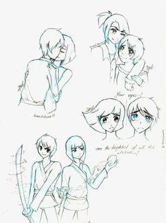 Ninjago:+JayxNya+Sketchdump+by+kuraikitsune13.deviantart.com+on+@DeviantArt