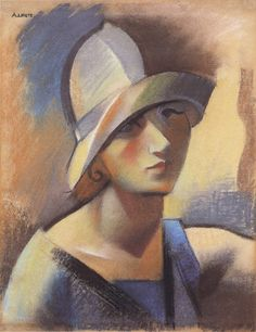 Female Portrait by Andre Lhote (1885-1962)