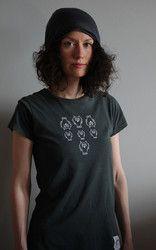 Luomupuuvillainen Leidien Untamo t-paita. Ladies Untamo t-shirt. Ecologically and ethically produced. Organic cotton.