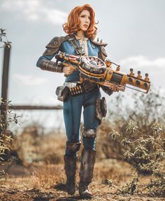 Fallout 76 cosplay by Lightning Cosplay Fallout Cosplay, Fallout Rpg, Fallout Fan Art, Fallout Concept Art, Fallout Vault, Fallout Lore, Bioshock Cosplay, Batwoman, Batgirl