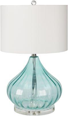 Perfectly coastal! Atlantis Aqua Glass Beach House Lamp