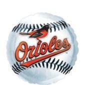 Foil Baltimore Orioles Baseball Balloon 18in - Party City