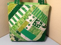 St Patrick's Day Patchwork Quilted Fabric Gift by HugsandHolidays  SOLD