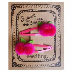 Pocket Money Collection - Sweet Like Cherry Pie Pom Pom Hair Clips