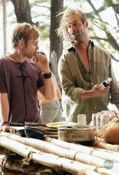 Josh Holloway and Dominic Monaghan two of my favorite charectars on lost except josh is hot doms not
