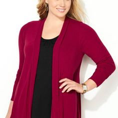 Find luxurious layers in soft, lightweight fabrics like the plus size Shirred Back Hatchi Cardigan available online at avenue.com. Avenue Store
