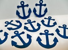100 Anchor Die Cuts/ Anchor Tags/ Beach or by BethsBannerBoutique, $11.50