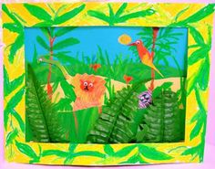 The art of Henri Rousseau is the inspiration for creating a jungle full of animal puppets!