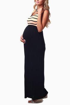 http://www.pinkblushmaternity.com/p-5988-peach-black-striped-top-maternity-maxi-dress.aspx