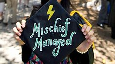 Not sure how to jazz up your graduation mortarboard? Study these 11 examples for a little bit of inspiration.