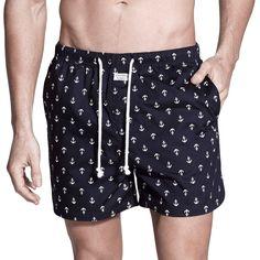 Penkivil Boxer Shorts in Navy & White Anchor | Campbell & Hall #campbellandhall #boxershorts #shorts #anchor #mensclothing #beachwear #sleepwear #boxers #navy #menstyle