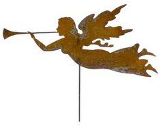 Angel+Garden+Stake+or+Wall+Art+/+Garden+by+RusticaOrnamentals,+$35.99