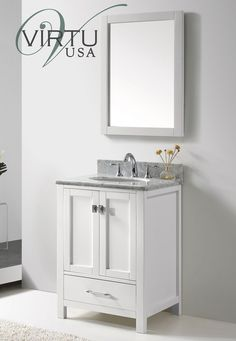 Accanto Contemporary 30 Inch White Finish Bathroom Vanity Marble Classy Vanities For Small Bathroom Review