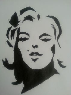 This is my pop art drawing of Marilyn Monroe with Micron pen