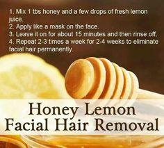 Honey lemon facial hair removal