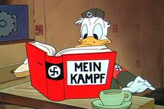 "01 Jan 43: Walt Disney releases the animated musical short ""Der Fuehrer's Face"" which comically depicts Donald Duck living in Nazi society. More: http://scanningwwii.com/a?d=0101&s=430101 #WWII"