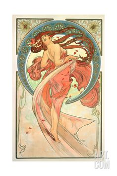 The Arts: Dance, 1898 Giclee Print by Alphonse Mucha at Art.com