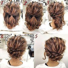 Haar – Mother Of Groom Wedding Hair - hair lengths Updo Hairstyles Tutorials, Messy Hairstyles, Hairstyle Ideas, Hairstyles Haircuts, Natural Hairstyles, Makeup Hairstyle, Formal Hairstyles For Short Hair, Step Hairstyle, Latest Hairstyles