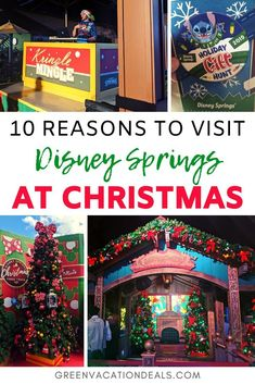 10 Reasons to Visit Disney Springs at Christmas Disney World Florida, Disney World Vacation, Disney Vacations, Walt Disney World, Disney Travel, Disney Parks, Christmas Travel, Disney Christmas, Holiday Travel