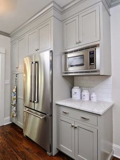 The Green Room Interiors Chattanooga, TN Interior Decorator Designer: Upper Kitchen Cabinets - Level or Varied Height