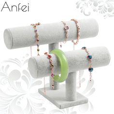 check price bracelet display shelf removable double layer headbands holder bracelet organizer #packaging #products