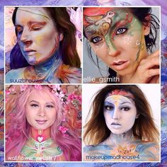 """Collaboration inspired by the magical artwork of Helena Nelson Reed Go check out all 3 of these talented beauties! They are amazing! Thanks for making this collab such a treat for the eyes ladies! @suuzbrouwer @ellie_gsmith @makeupmadhouse4"" Photo taken by @wallflower_artistry on Instagram, pinned via the InstaPin iOS App! http://www.instapinapp.com (07/28/2015)"