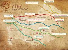 Molise - Mappa dei tratturi