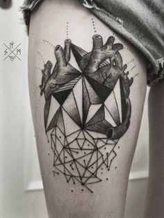 #geometric #heart #tattoo by Artem Manukian