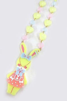 Angelic Pretty: Fancy Lyrical Bunny Necklace in yellow