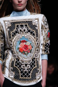 Balmain Autumn Winter 2012-2013 - AW12 Barroque floral jersey