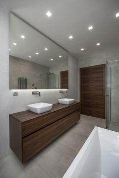 Červený Hrádek u Plzně - [AH]INTERIORS Diy Bathroom Decor, Budget Bathroom, Simple Bathroom, Bathroom Organization, Sink, House, Floor, Wall, Houses