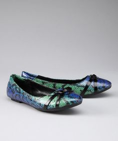 Take a look at this Aqua Prima Ballet Flat - Women by Pairendipity on #zulily today!