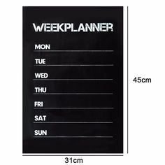 Alta Calidad de Planificación Semanal Planner Calendar Memo tablero de Tiza de la Pizarra Etiqueta de La Pared Salón Complemento Esencial