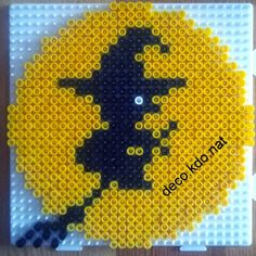 Witch Halloween hama perler beads by Deco.Kdo.Nat
