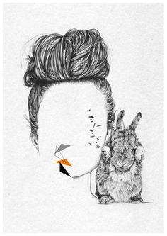 Personal work by Cheyenne Illustration, via Behance