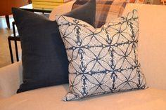 Belgium linen and hand-block printed pillows