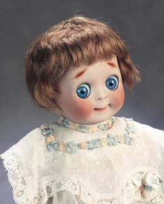 The Great Man's Doll: 422 Petite German Bisque Googly,221,by Kestner with Original Wig and Body