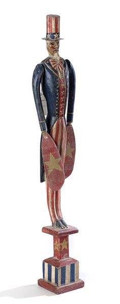 folk art whirlywigs | Folk Art Uncle Sam Whirligig, - Cowan's Auctions