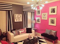 Such a gorgeous glam teen lounge/hang out areaThanks for the tag - Home Decor For Kids And Interior Design Ideas for Children, Toddler Room Ideas For Boys And Girls Home Decor Mirrors, Decor, Furniture, Girly Living Room, Americana Home Decor, Trending Decor, Home Decor, Girly Room, Apartment Decor
