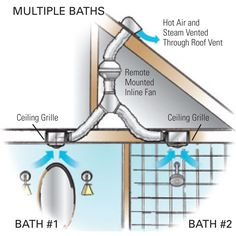 "Master Bathroom Exhaust Fan the zehnder silent over-shower ceiling fan. ""2 birds with 1 stone"